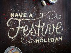 Happy Holidays Dribbble! #typography