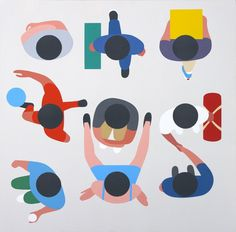 geoff-mcfetridge-paintings-4 #illustration #top #down