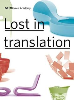 LOST IN TRANSLATION #translation #in #catalogue #cover #academy #domus #lost