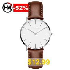 Hannah #Martin #Fashion #Simple #Bauhaus #White #Belt #Quartz #Watch #- ##013