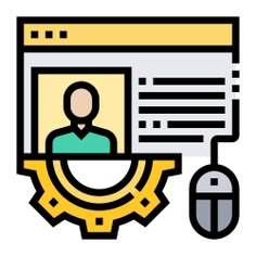 See more icon inspiration related to data, business and finance, job search, resume, online, information, profile, application and computer on Flaticon.