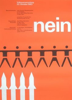 All sizes | Political posters - human chain | Flickr - Photo Sharing! #otl aicher