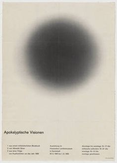 FFFFOUND! | MoMA | The Collection | Fritz Fischer-Nosbisch. Apokalyptische Visionen. 1963 #fritz #fischer #collection #nosbisch #the #poster #moma