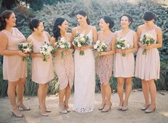 pink-bridesmaid-dress-ideas.jpg (JPEG-kuva, 600 × 442 kuvapistettä) #bridesmaids