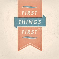 All sizes | first-things | Flickr - Photo Sharing! #offset #banner #red #tan #blue #typography