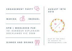 Love Story - Engagement Invitations #paperlust #engagementinvitation #engagementcard #engagementinspiration #design #paper #digitalcard #fo