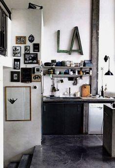 Industrial kitchen | iainclaridge.net #interior #house