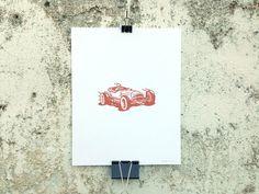 Racecar - 8 x 10 Mini Poster