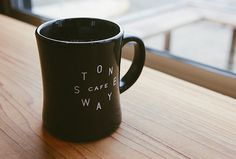 Stone Way Cafe by Shore #graphic design #typography #mug