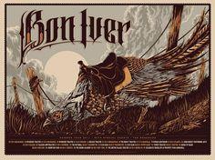 GigPosters.com - Bon Iver #gigposter #illustration #taylor #ken