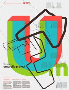 Umbrella Project #fluoroscent #poster