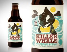 Killer Whale #packaging #beer #label #bottle