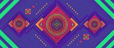 FRISKY by molistudio on Behance #colorful #symmetry #frisky #geometry