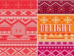 WilloSweets: The Chocolate Edition on Behance #stitch #holiday #knit #pattern