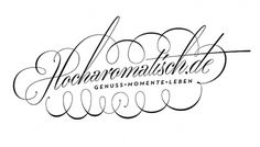 All sizes | hocharomatisch.de | Flickr - Photo Sharing! #swash #logo #lettering