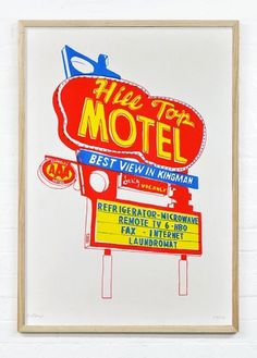 Motels : Holly Wales #signage #type #vintage #poster