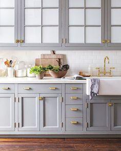 dreamy brass kitchen fixtures / sfgirlbybay