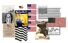 Mood Board - Free Kathleen Marie Fitzgerald #inspiration #flag #board #american #free #mood #scatter #collage