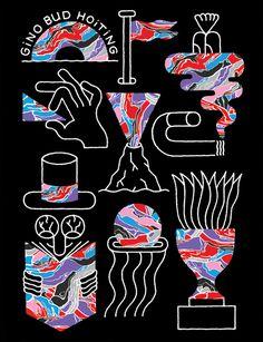KIBLIND magazine #abstract #kiblind #hud #gino #hoiting #illustration