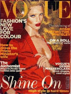 Hand stitched Vogue Covers - today and tomorrow