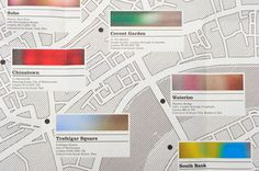 London: Seeking Colour #editorial #map #typography