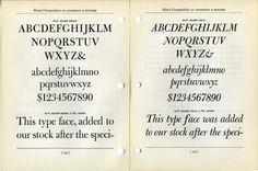 Bulmer #type #specimen #typography