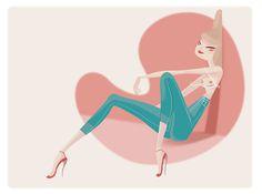 Alejandro Messa #pink #illustration #alejandromessa #pastels