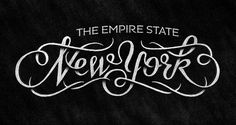 The Empire State | New York #lettering #typography #empire #the #state #york #type #hand #new