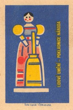 czechoslovakian matchbox label #matchbox #illustration #graphic #vintage
