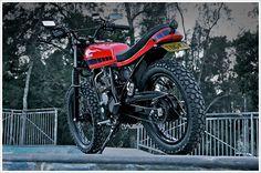 "Renegade Custom's Yamaha Scorpio – ""Desert Racer"" #scrambler #moto #yamaha"