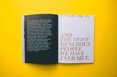 The Well Book #print #layout #color #type