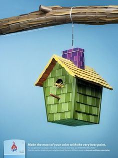 Birdhouse — McKinney #advertising print