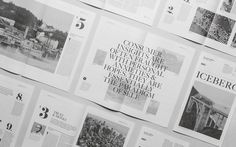Iceberg by Sociodesign #publication #typography