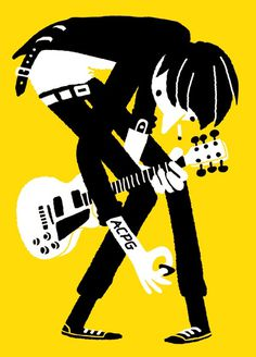guitar music illustration poster