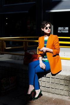 The Sartorialist #fashion #glasses #orange #chic