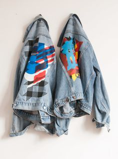 screen printed denim jackets for PrintMakingMoneyGang expo #PrintMakingMoneyGang #screenprint #gezeever