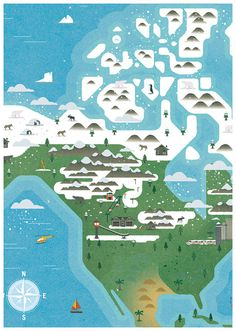 Monocle Alpino #design #graphic #illustration #maps #monocle