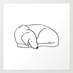 Sleeping Dog Appreciation Society Art Print
