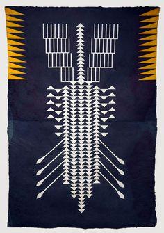 ALYSSA PHEOBUS MUMTAZ  Acrylic on handmade indigo paper