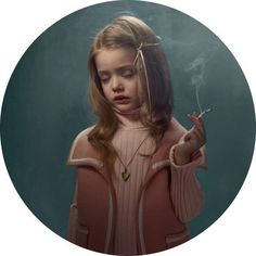 Smoking Kids portraits by photographer Frieke Janssens #girl #photography #portrait #smoke #child #cancer #smoking #kid