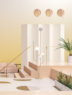 Seasons on Behance #3D #seasons #weather #colors #pastel #interior #design #decoration