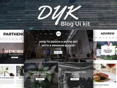 Dyk – Free Blog UI Kit PSD