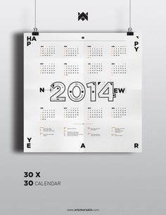 2014 Typography Calendar #calendar #typography
