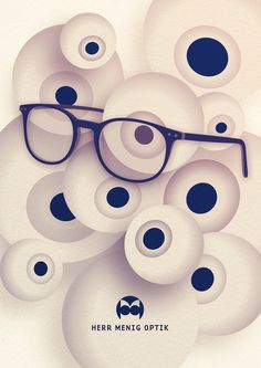 Ad illustration for Herr Menig Optik, an optician in Nürnberg Germany - www.philippzm.com #illustration #optician #glasses #ad