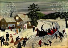 Eagle Bridge Hotel - Grandma Moses - WikiPaintings.org #colours #arts #illustration #painting #naive #fine