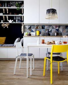 IKEA smart tiny kitchen, METOD storage bench