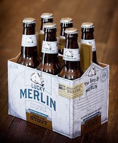 Lucky Merlin Beer Packaging #packaging #beer #label #bottle