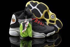 Air Jordan 13 Electric Yellow - Wolf Grey - University Red - Charcol Black Men's Sneaker #shoes