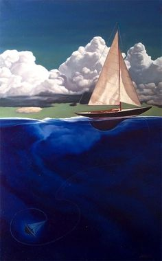thelosttoy2_copy.jpg (747×1200) #illustration #sink #painting #sailboat #nick hermes