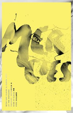 Garrett DeRossett | Work #design #yellow #eye #illustration #vintage #poster #type #typography